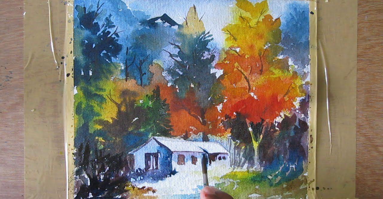 Landscape Watercolor Painting Watercolor Painting Tutorial