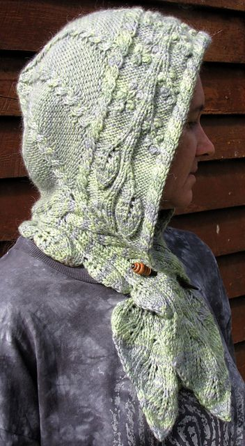 Elven Hooded Scarf pattern by Amy Jansen | Hooded scarf, Yarns and ...