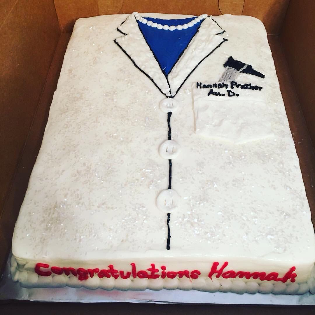 Doctor of audiology cake Graduation party cake Aud | Audiology, ASL ...