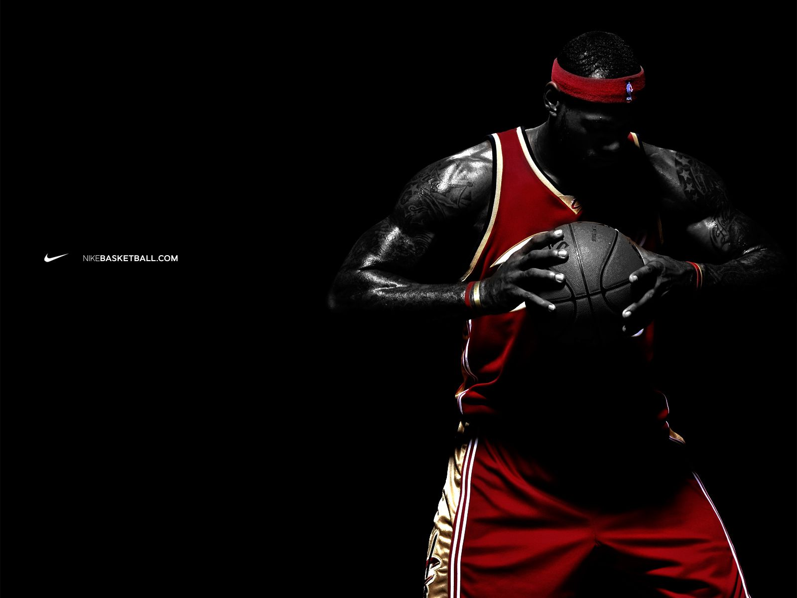 lebron james nike commercial 2014 ... The dark background, along with the  male basketball player, are used to appeal to