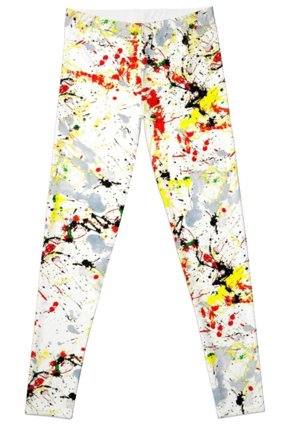 "Paint Splatter Pattern Leggings"" at #Redbubble by #Gravityx9 #PaintSplatter -"