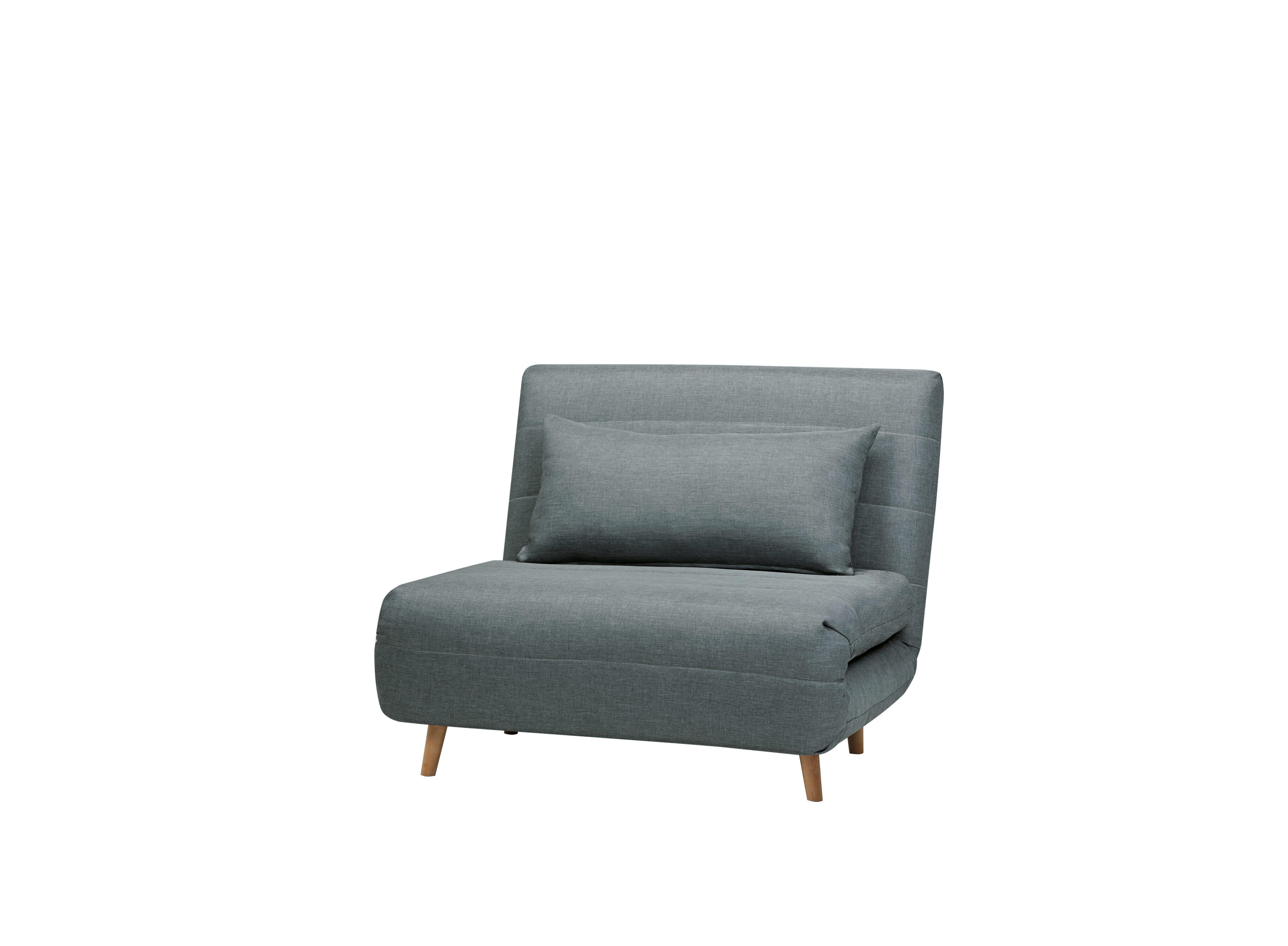 Fauteuil convertible tissu Gris/Bleu IGLOO | Inspiration au salon ...