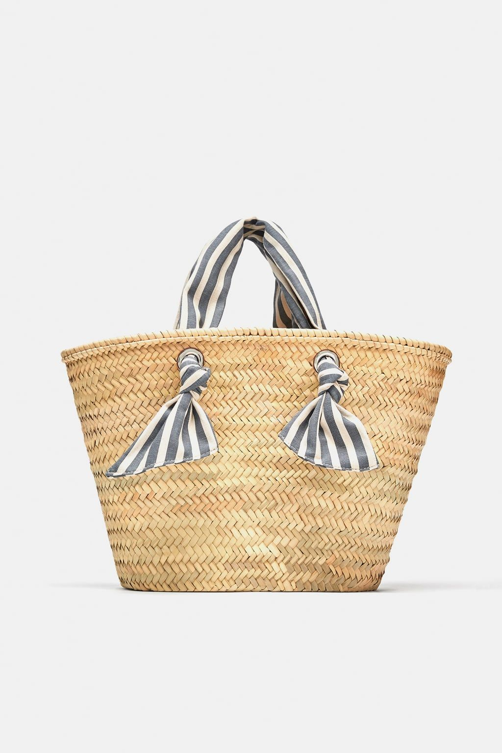 Striped Basket Shopper Bag Item Available In More Colors
