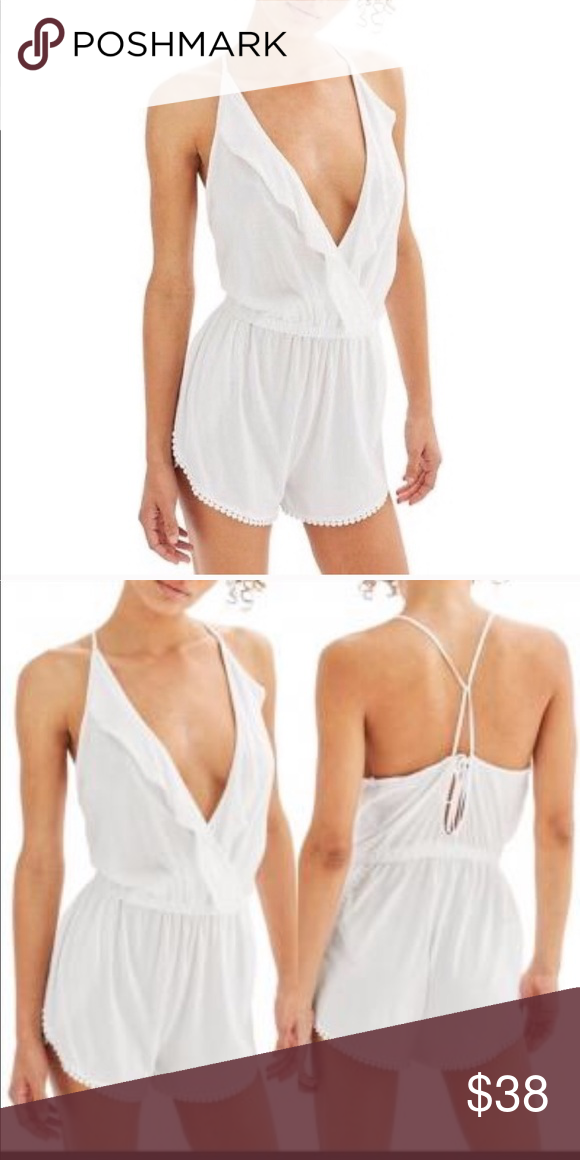 5abcf904d5ed NWT Topshop Jersey Wrap Cover up Romper NWT Topshop Romper in White Topshop  Other
