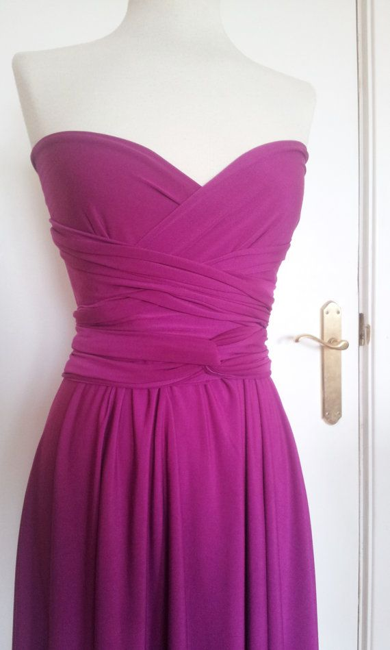 Orchid pink short bridesmaid dress, orchid short infinity dress ...