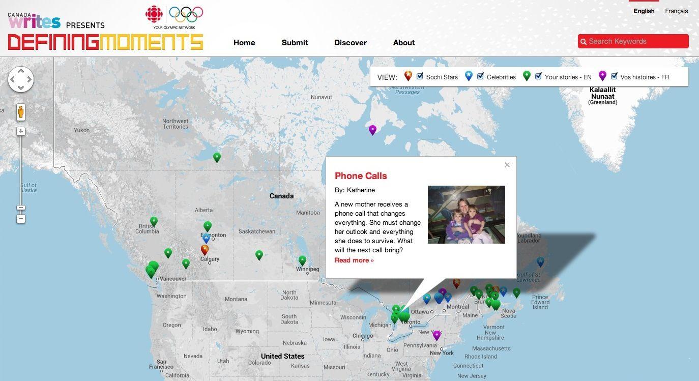 interesting Sochi2014 social project DefiningMoments by