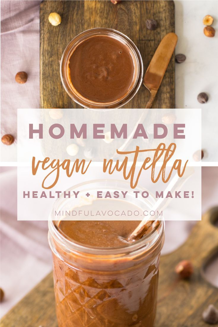 Nutella recipe is easy to make and so delicious! Vegan, gluten-free, and healthy. | mindfulavocado