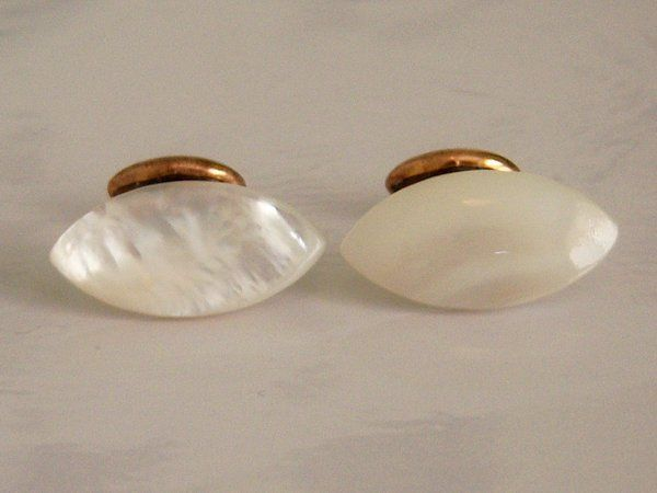 MOP Antique Cufflinks. Mother Of Pearl Cufflinks.