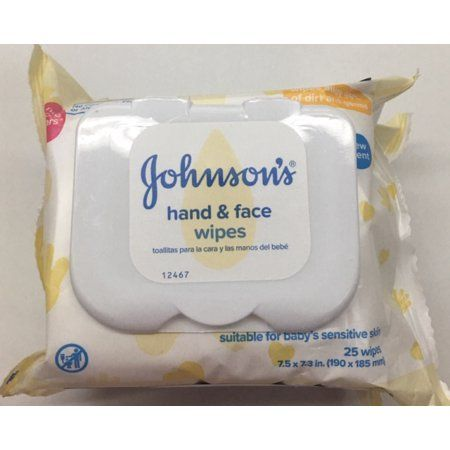 Johnson/'s Baby Hand and Face Wipes 25 Count 2 Pack