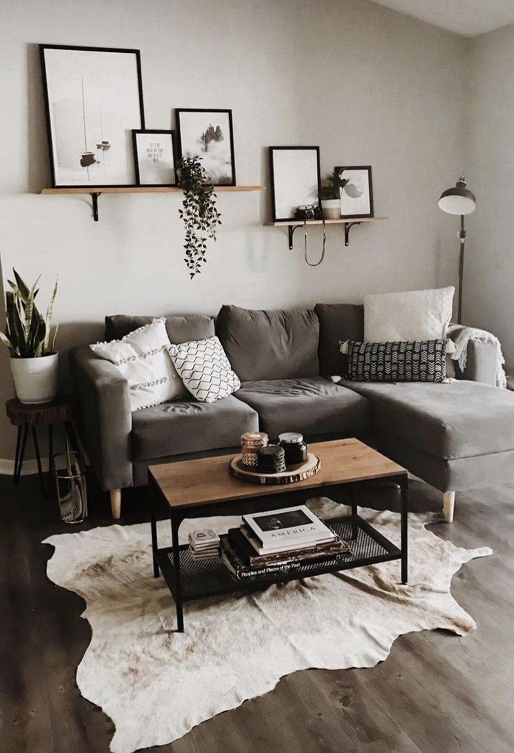 Simple Modern Living Room Luxury 42 Simple Living Room Apartment Decorating In 2020 Living Room Design Small Spaces Living Room Decor Modern Small Living Room Design