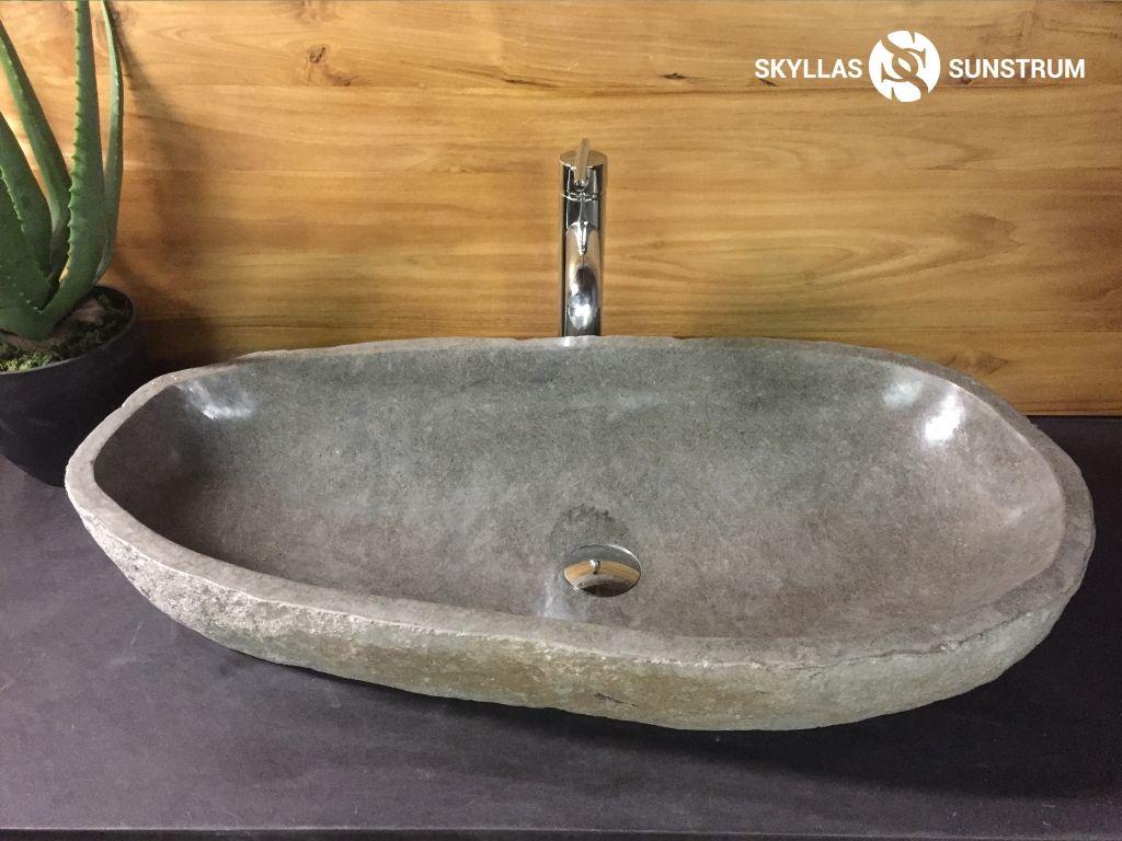 Megalo 3424 River Stone Vessel Sink 31 75 X16 X5 5
