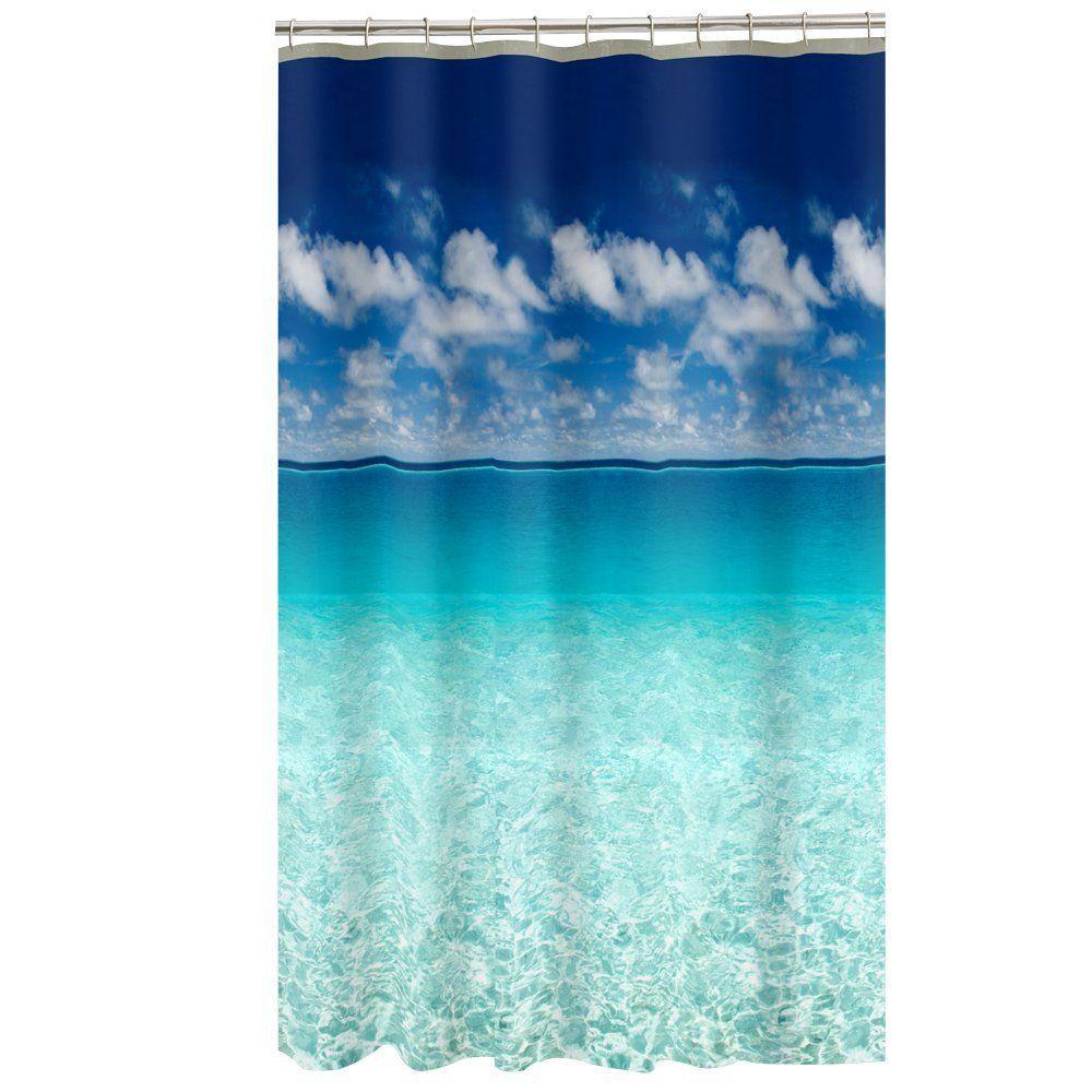 Amazon Com Maytex Escape Photo Real Peva Vinyl Shower Curtain
