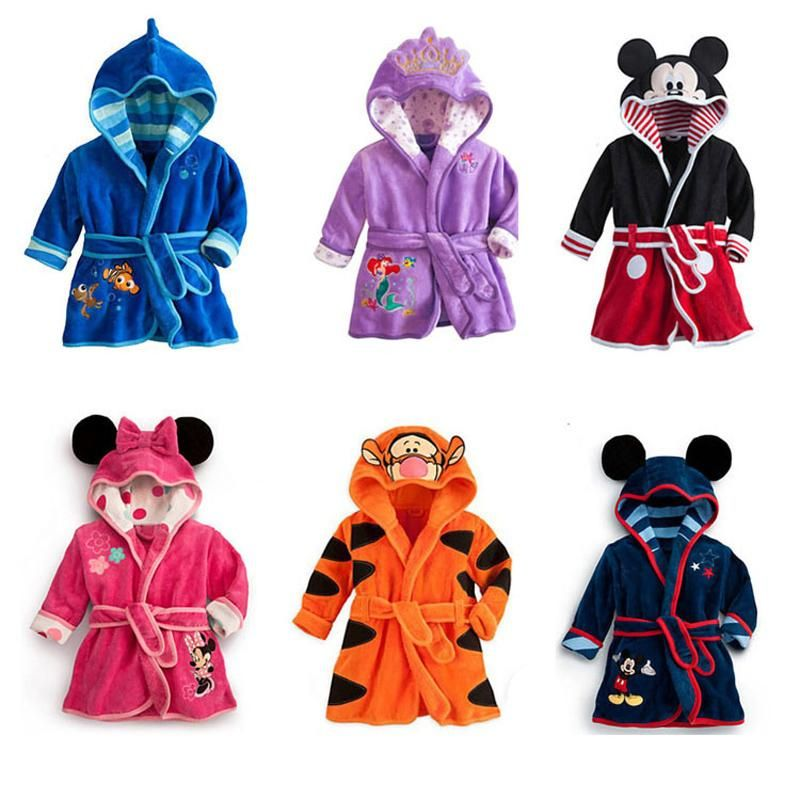 ed599743ff Soft and Plush Toddler Boys Character Themed Bath Robes