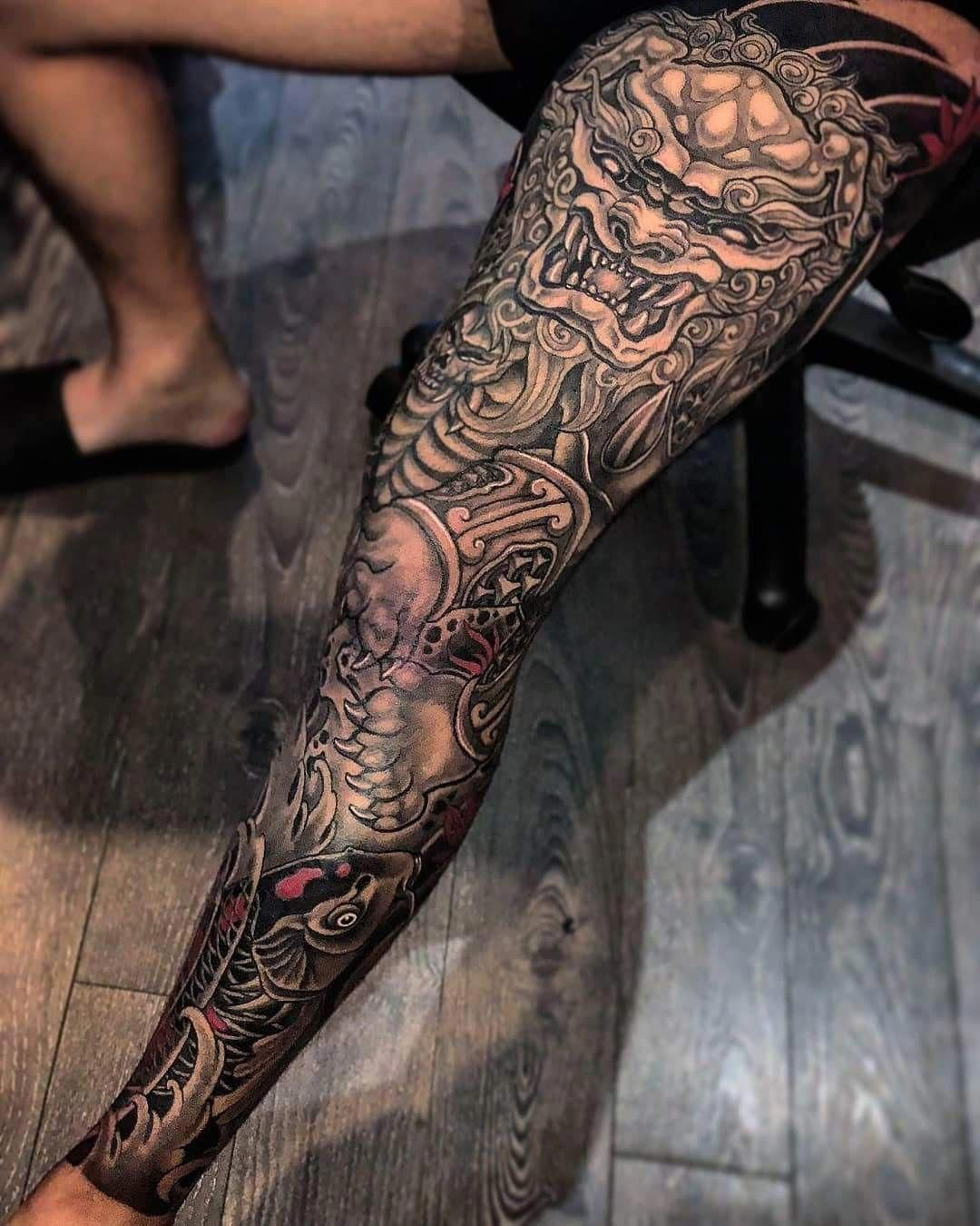 125 Best Leg Tattoos For Men Tatuagem Tatuagem Na Perna Tatuagem No Joelho