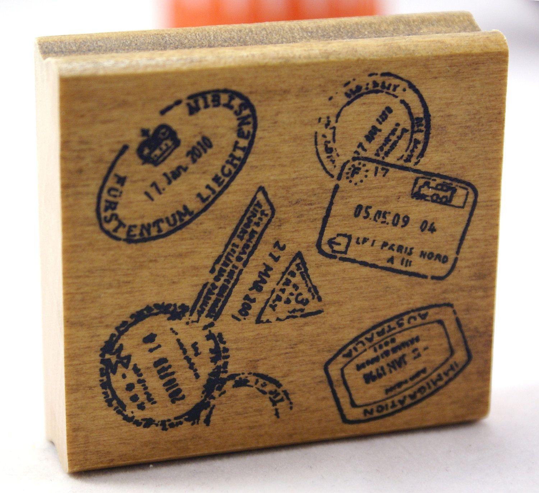 sample invitation letter for visitor visto australia%0A Distressed passport booklet travel visa stampsJapanese Wood Stamp          via Etsy