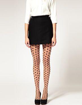Polka dot tights... Cuteeee