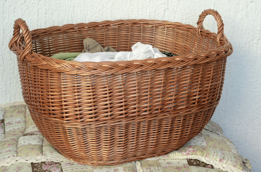 Round Natural Wicker Laundry Basket Wicker Laundry Basket Woven Laundry Basket Wicker
