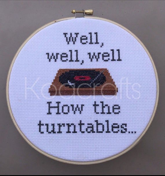 Photo of PATTERN*** The Office Cross Stitch Pattern, Well well well how the turntables quote, Michael Scott, Instant Download