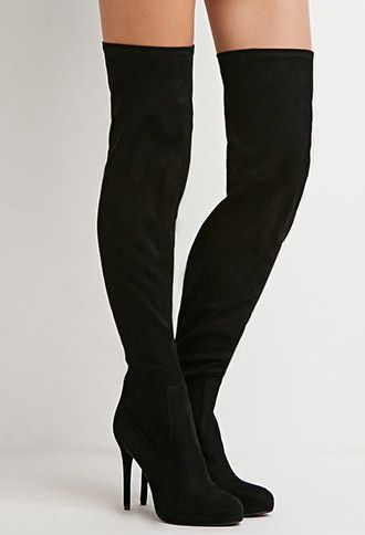 323b9fb5015 Faux Suede Over-the-Knee Boots