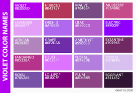 Image Result For List Of Purple Colors
