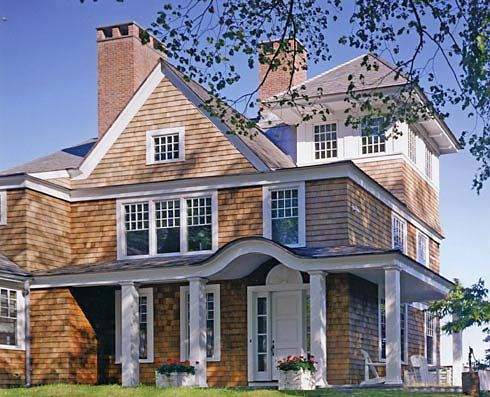 Best I Really Like The Eyebrow Arch Above The Front Door On This Cedar Shake Cape Cod House 400 x 300
