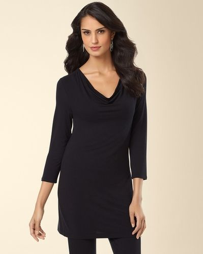 dd134e2765 Soft Jersey Drape Tunic Black from Soma Intimates on shop.CatalogSpree.com,  your personal digital mall.