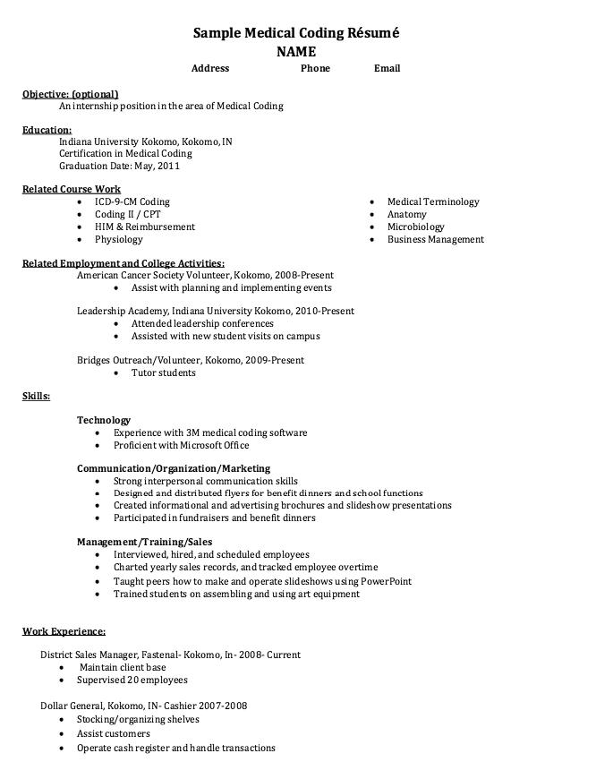 Example Coder Resume Free Resume Sample Resume Template Examples Resume Free Resume Samples
