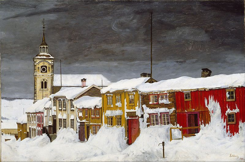 File:Harald Sohlberg - Street in Røros in Winter - Google Art Harald Sohlberg (1869–1935) Link back to Creator infobox template wikidata:Q1367020 (1869/1935) Title	 English: Street in Røros in Winter Date	1903 Medium	 Norsk bokmål: Olje på lerret Dimensions	 English: w90.5 x h60.5 cmProject.jpg