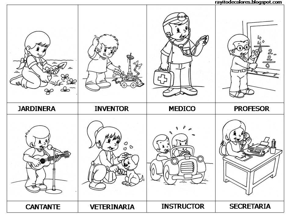 Profesiones Y Oficios Preescolar Profesiones Oficios Y Oficios