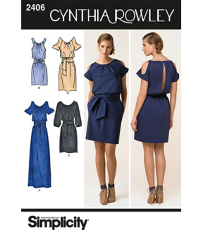Simplicity Pattern 2406H5-Cynthia Rowley Misses Dresses-Sz 6-14 at ...