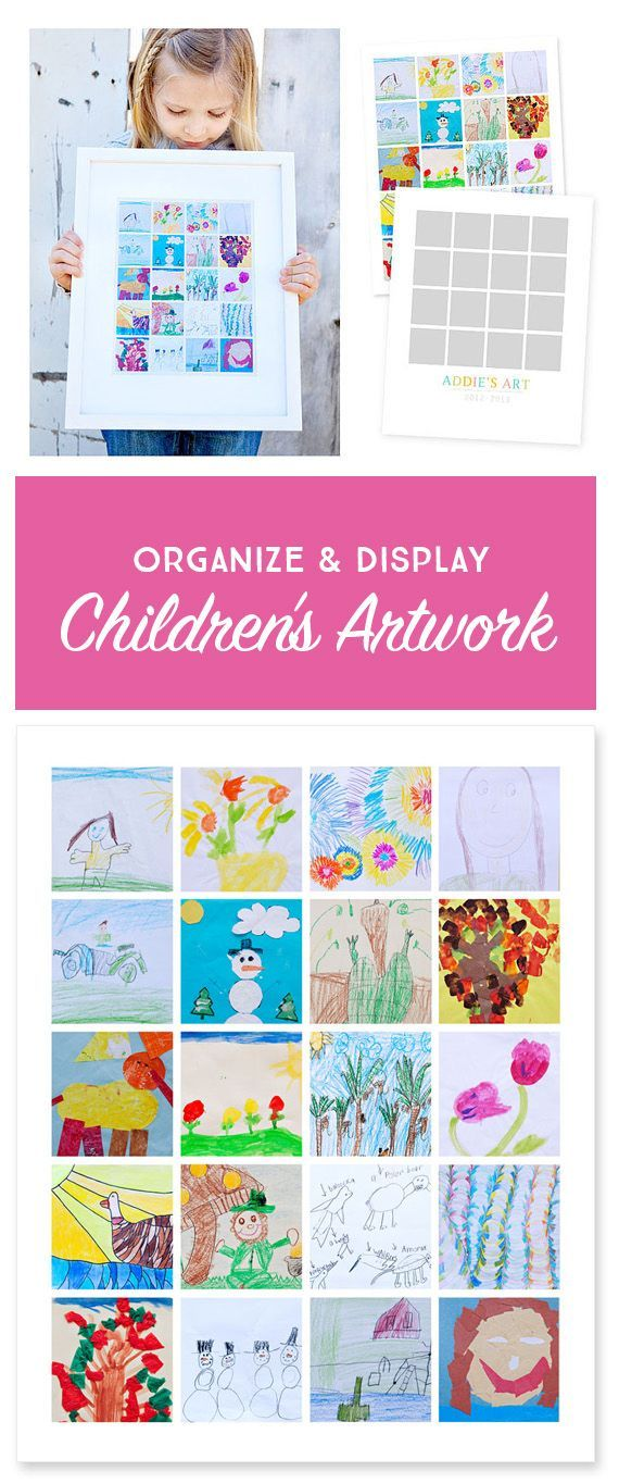 Organize your child's artwork and create one of a kind collage prints to display in your home.