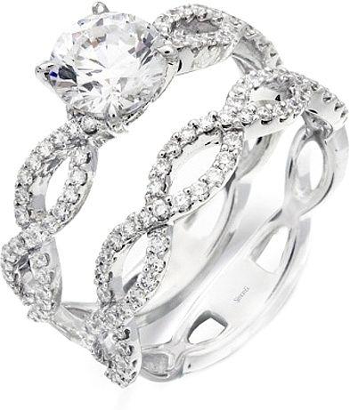 simon g twist shank diamond engagement ring setting - Wedding Ring Setting