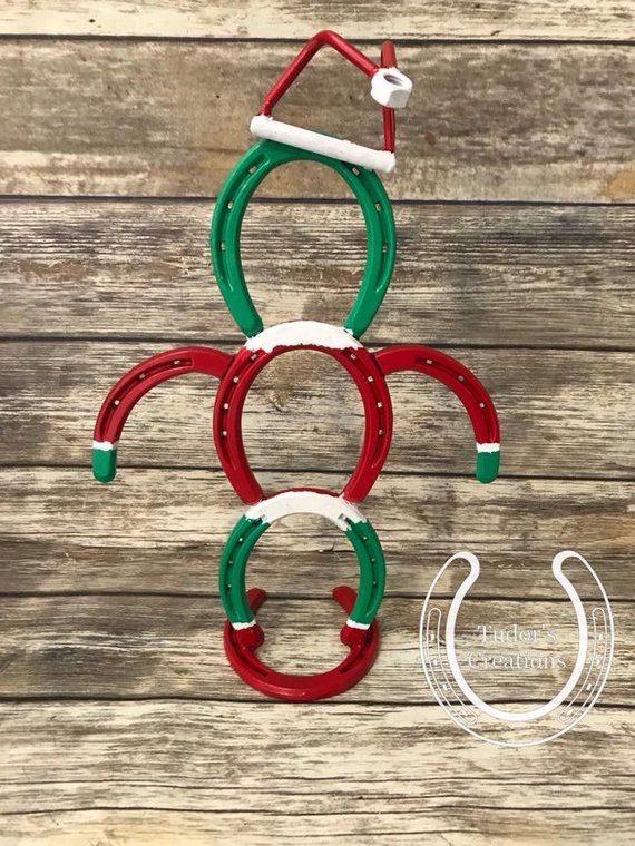 Horseshoe Grinch Horseshoe Decor Christmas Santa Holiday