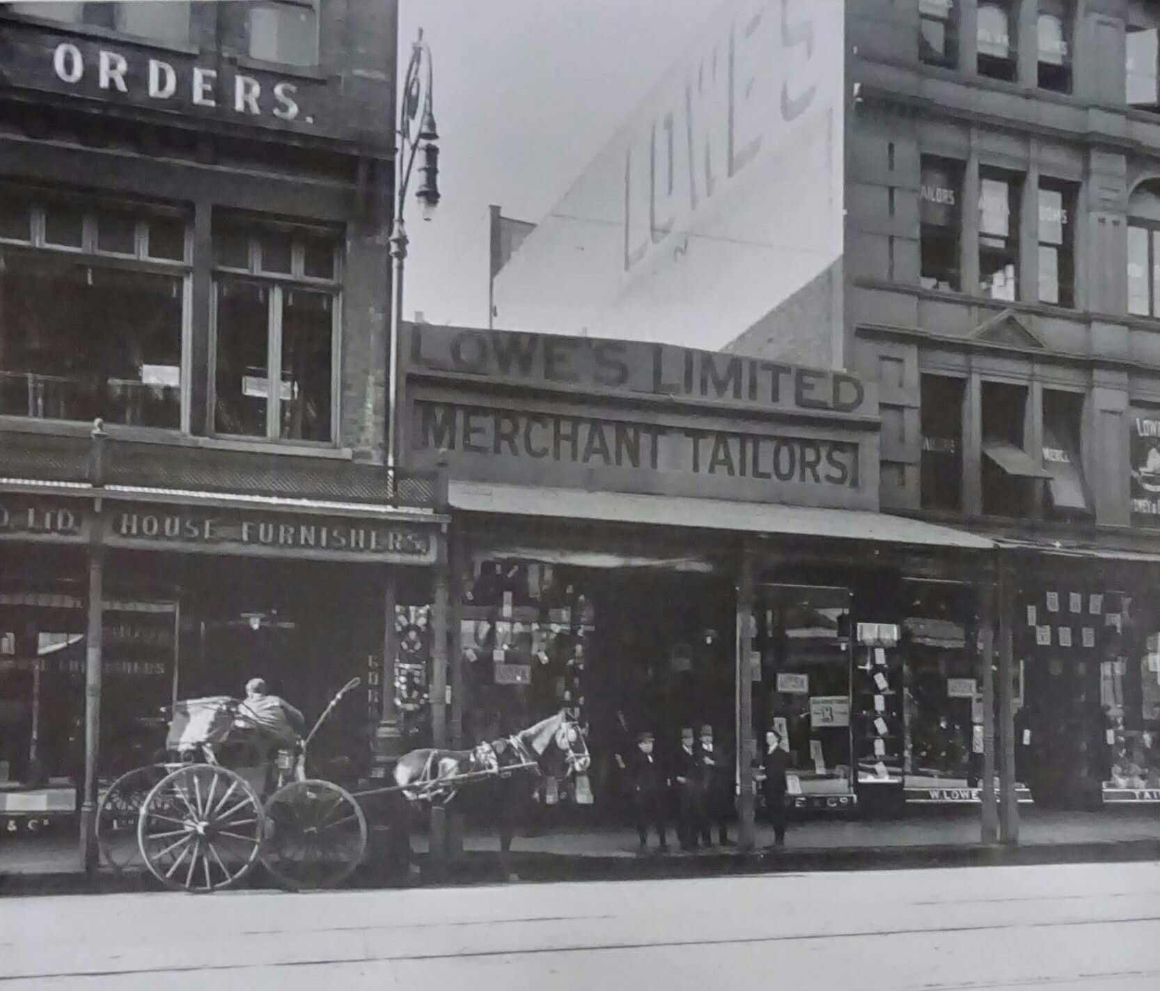 Lowes Merchant Tailors At 512 George St Sydney In 1911