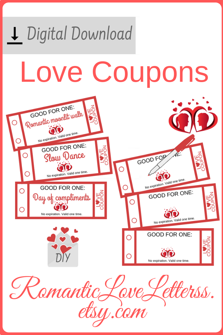 These 52 Printable Love Coupons Coupon Book Are Excellent Diy Romantic Husband Gift One Year 1 Love Coupons Coupon Book 1st Wedding Anniversary Gift For Him