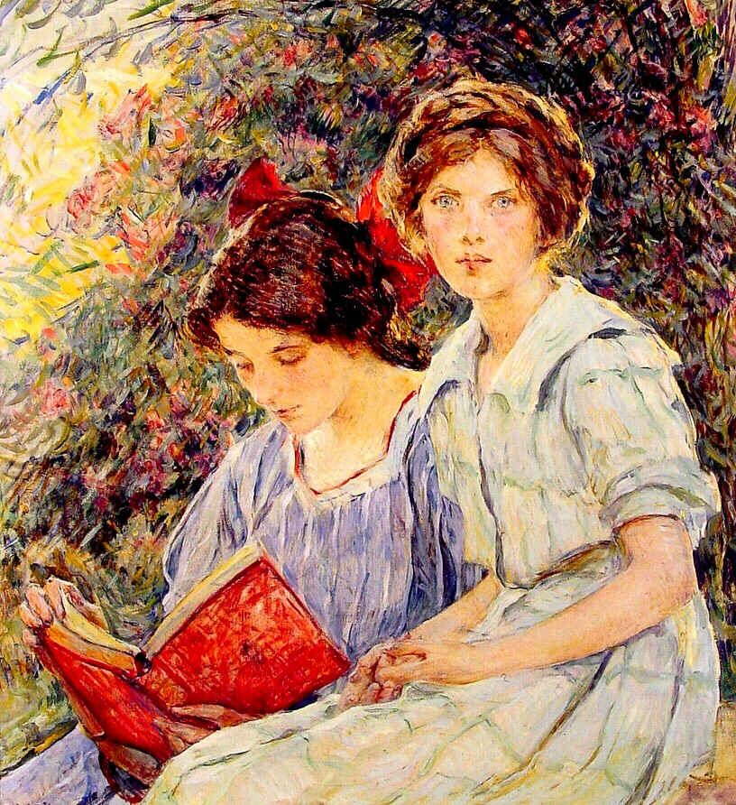 Αποτέλεσμα εικόνας για painting for reading book in pinterest