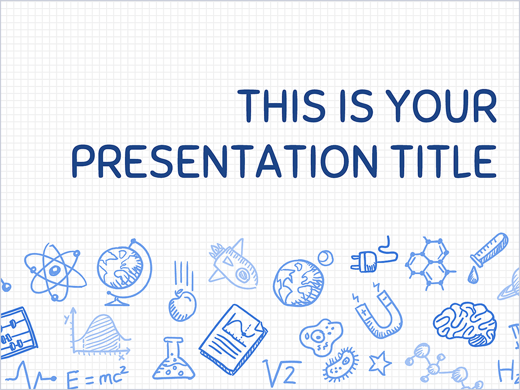 this playful free presentation template uses a science themed, Powerpoint templates