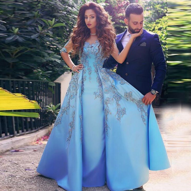 Find More Prom Dresses Information about Elegant Blue Prom Dresses ...