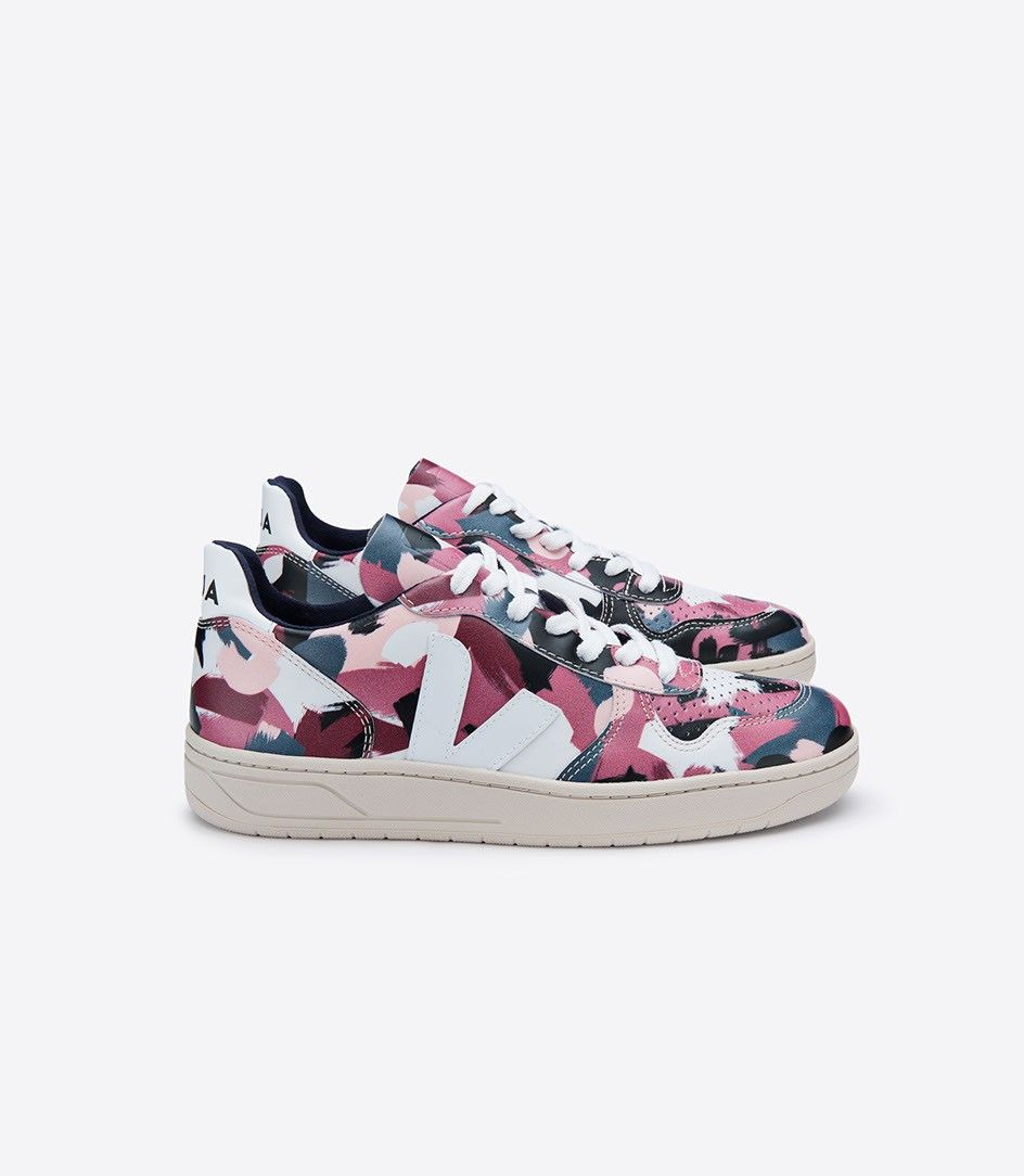 eb97d93e8d Veja V10 sneaker in organic cotton, low chrome leather | shoes ...