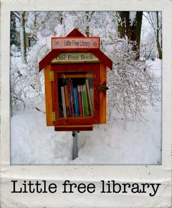 Little free library :) Makes me think of Little Women