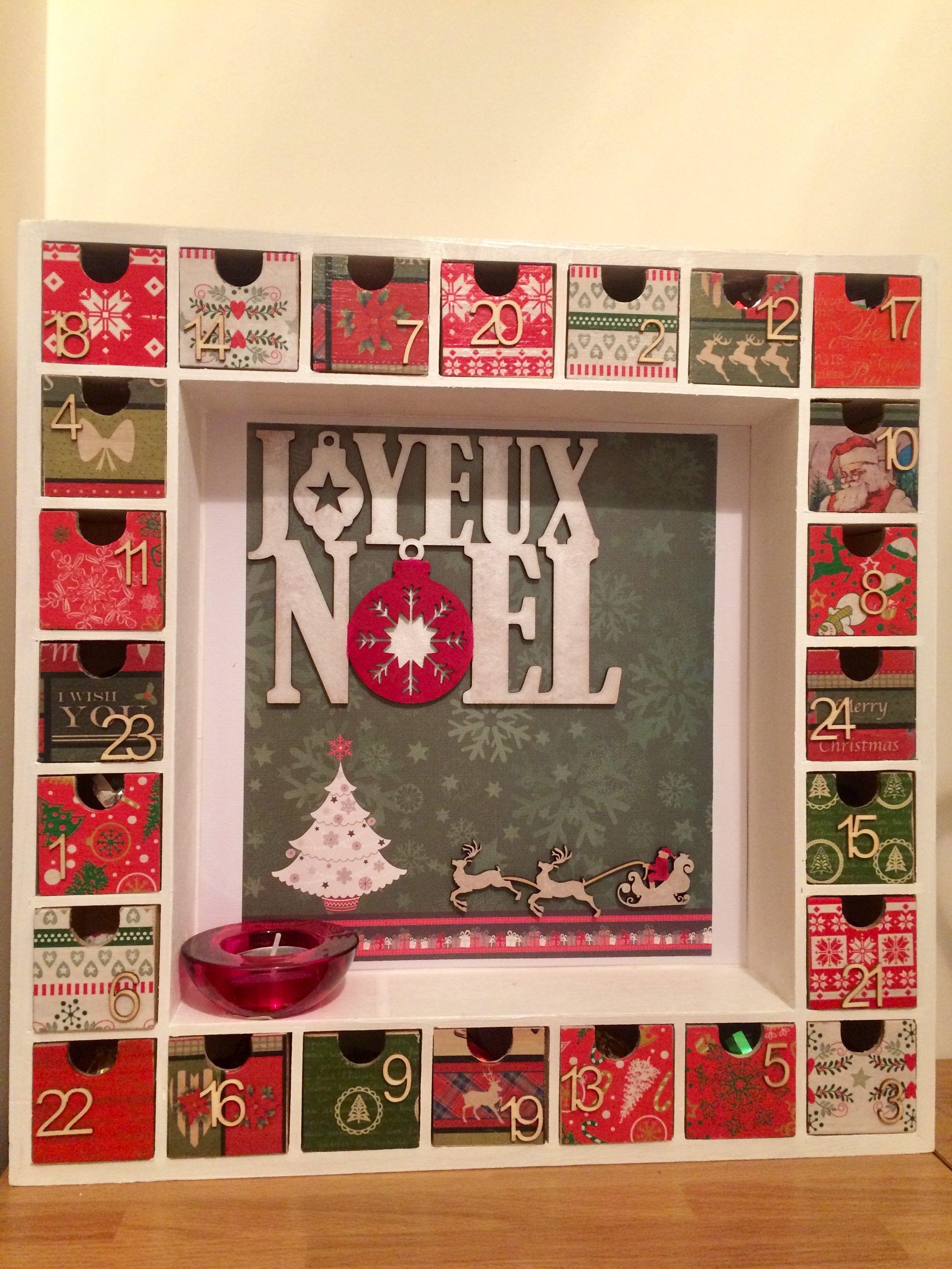 Decoration Calendrier De L Avent En Bois.Calendrier De L Avent En Bois Advent Calendar Calendrier