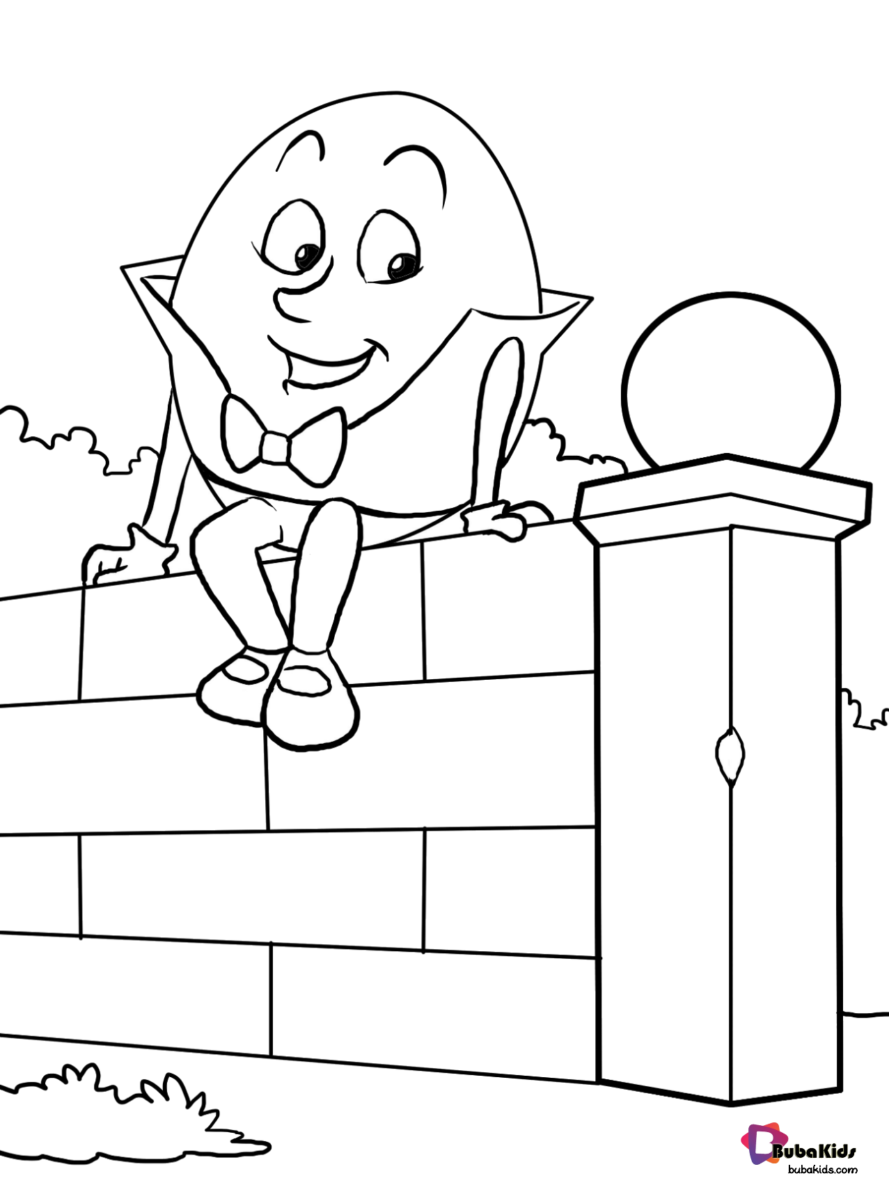 Humpty Dumpty Coloring Page In