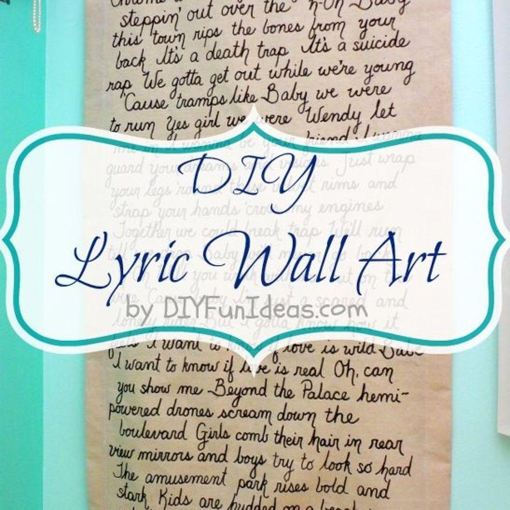 pics How to Make Lyric Art