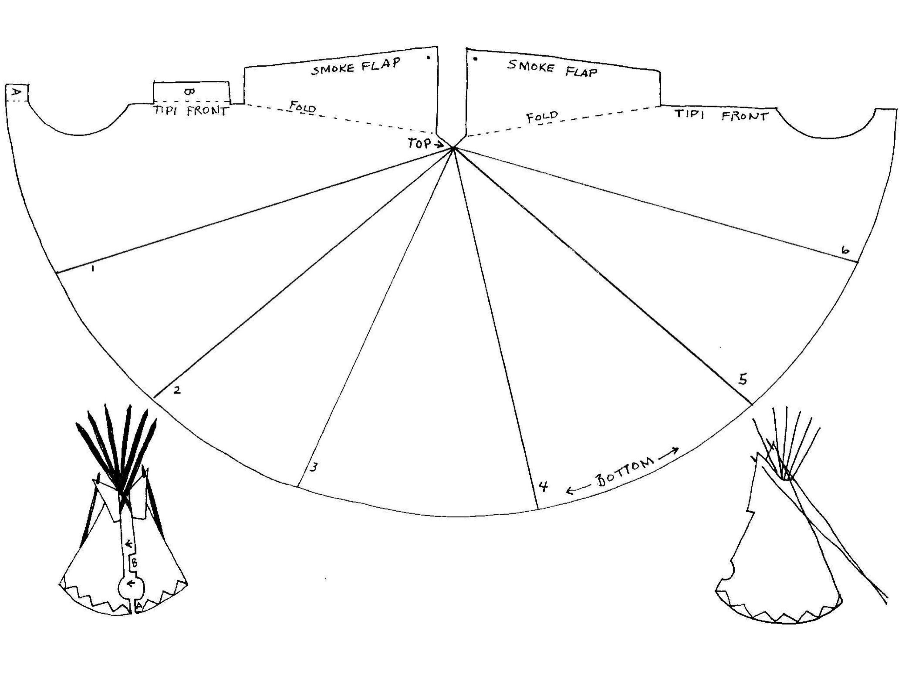 native american teepee tipi pattern miniature tutorials. Black Bedroom Furniture Sets. Home Design Ideas