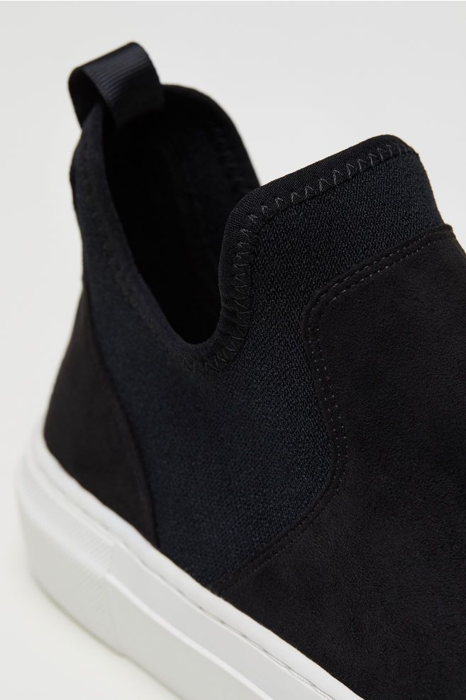 Ladies slip on trainers, Suede trainers
