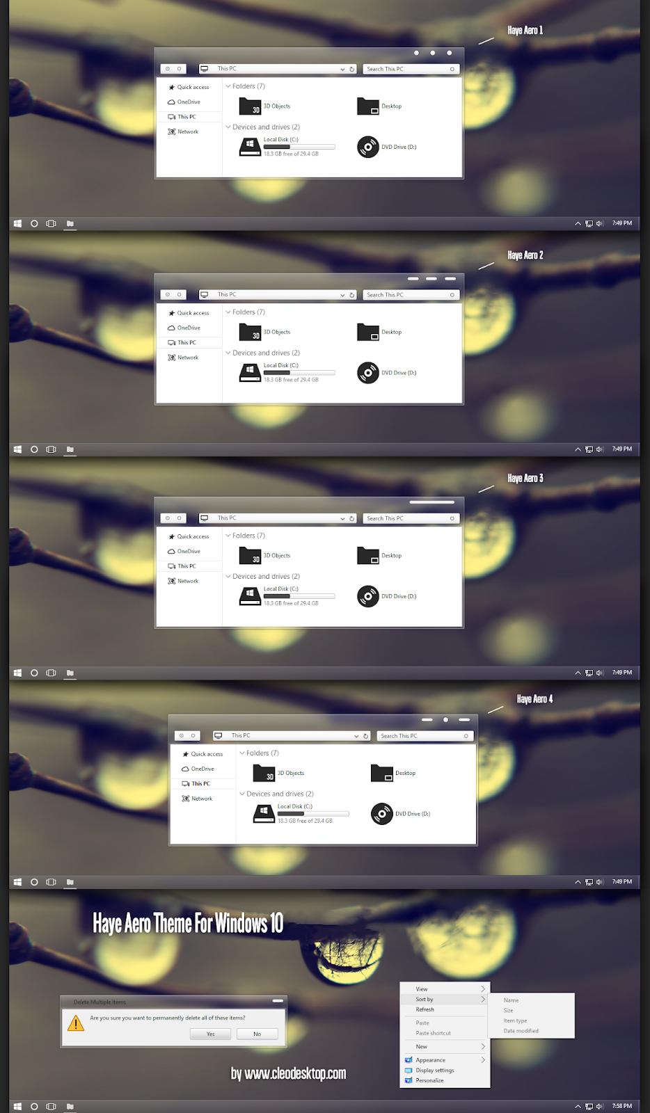 Haye Aero Theme Windows10 November 2019 Update 1909