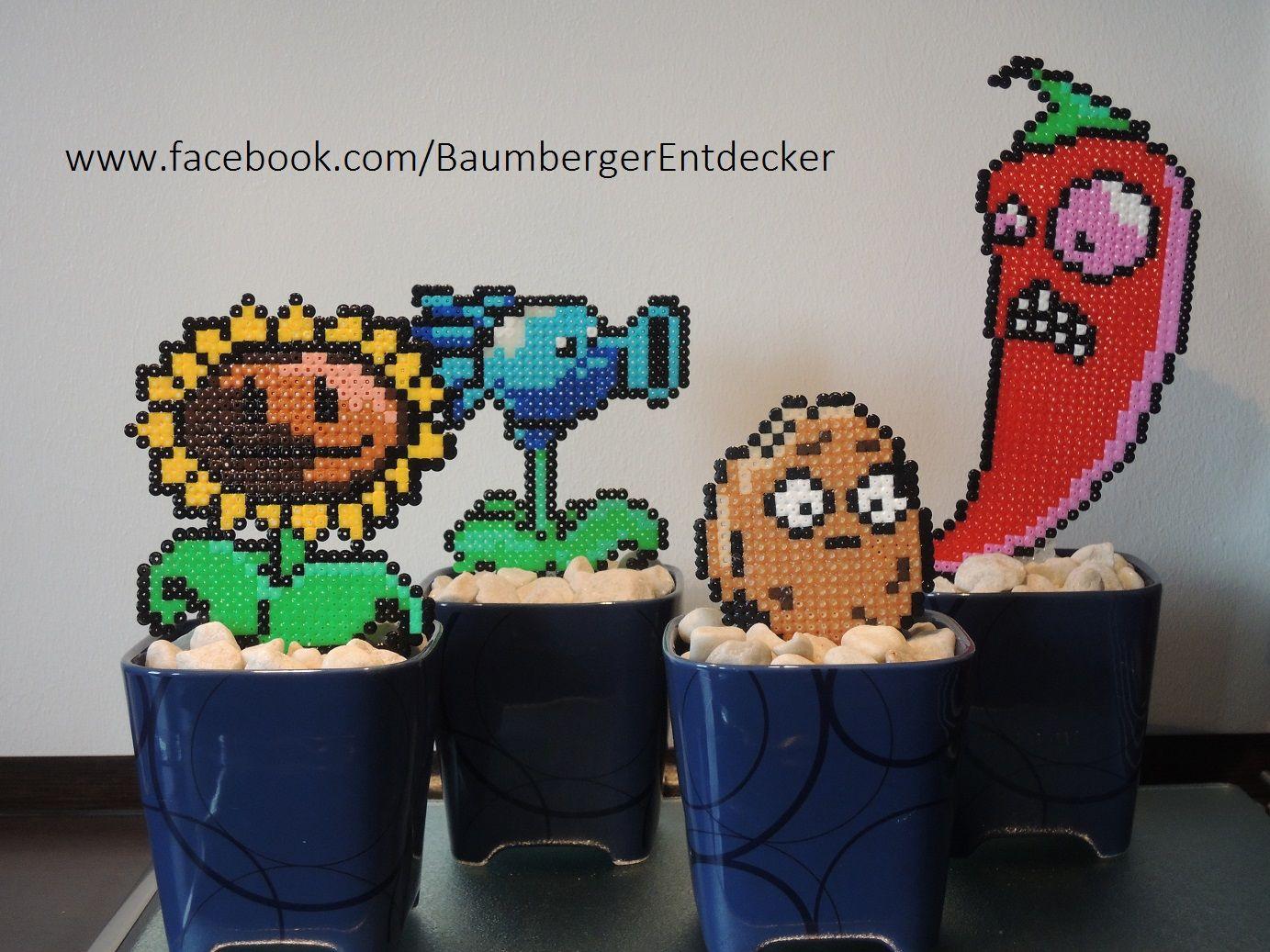 Zombie Vs Plants Garten Aus Bügelperlen Perler Beads Bügelperlen