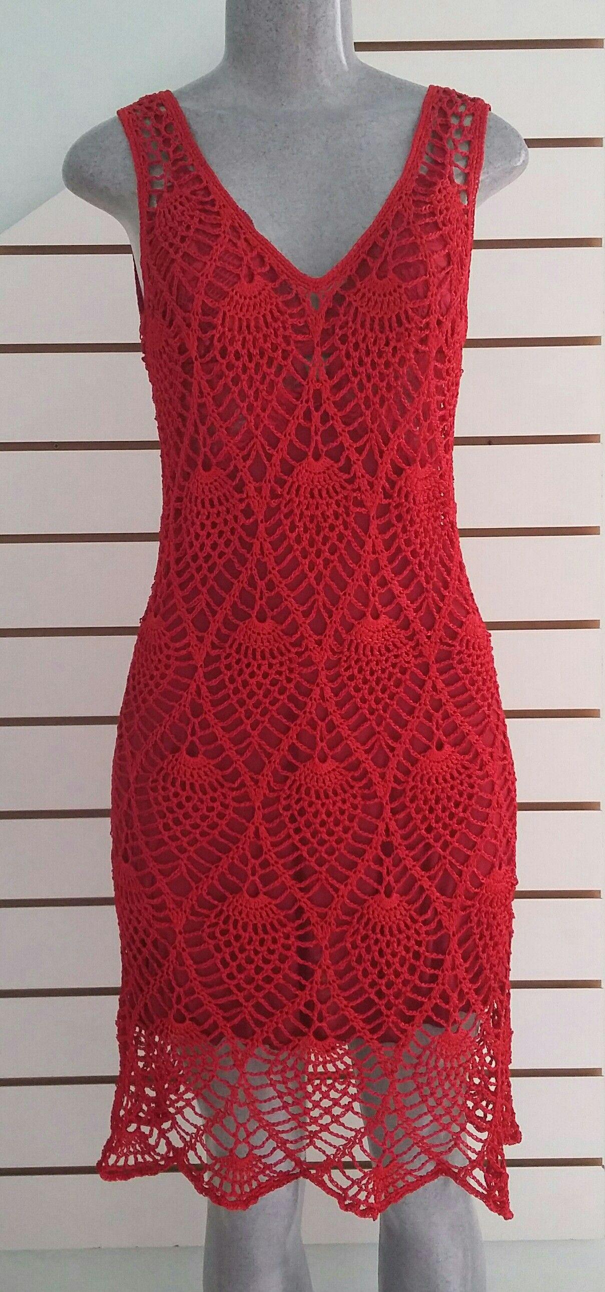 9e0caeb73 Vestido de crochê da Renata (7)