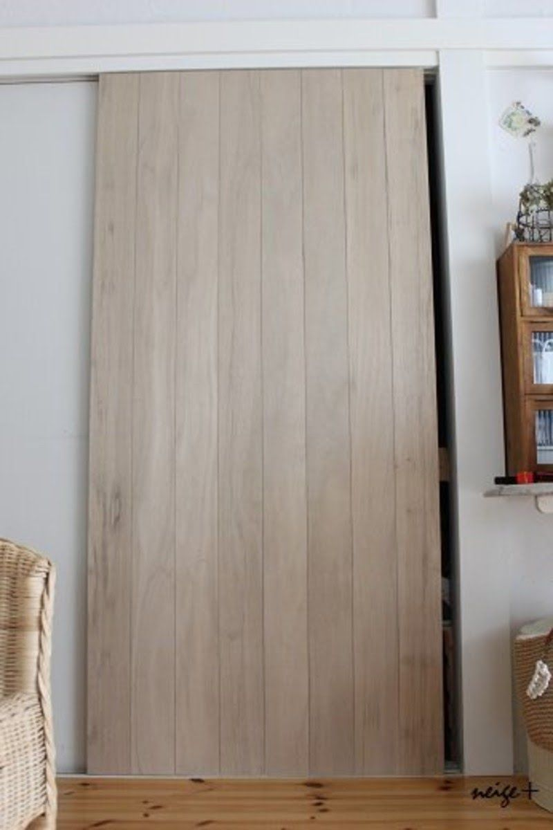 ふすまの大きな扉もべニア板でリメイクdiy 賃貸でもタッカーを使えば理想に近づけます Limia リミア 襖 リメイク 襖 Diy インテリア 収納