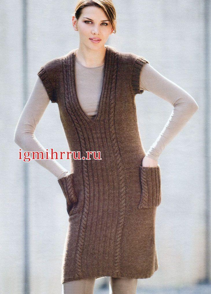 Связать спицами шерстяное платье